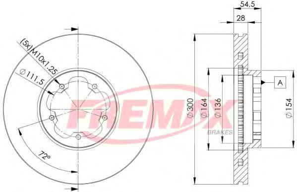 Диск тормозной Fremax, 2 шт. BD-5630BD-5630