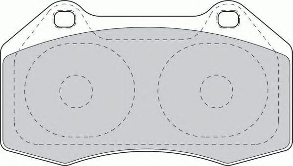 Колодки тормозные дисковые Ferodo, комплект. FDB1667FDB1667
