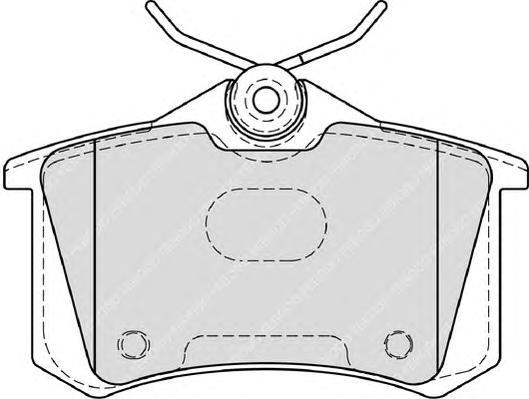 Колодки тормозные дисковые Ferodo, комплект. FDB4183FDB4183