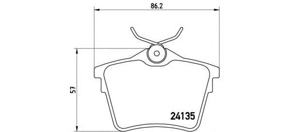 Колодки тормозные дисковые Brembo, задние. P61079P61079