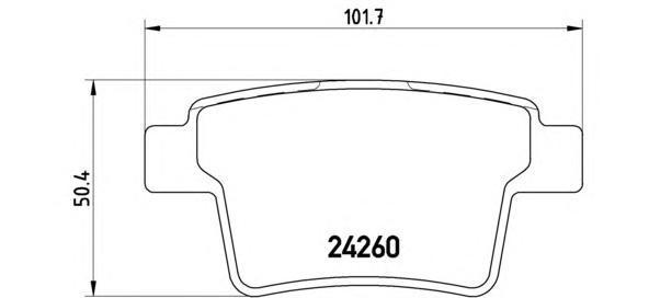Колодки тормозные дисковые Brembo, задние. P24063P24063