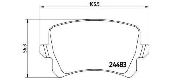 Колодки тормозные дисковые Brembo, задние. P85109P85109