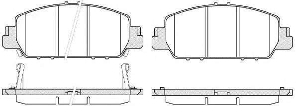 Колодки тормозные дисковые Remsa, задние. 154802154802