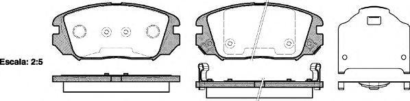 Колодки тормозные дисковые Remsa, комплект. 120402120402