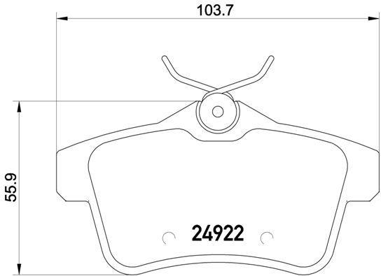 Колодки тормозные дисковые Brembo, задние. P61114P61114