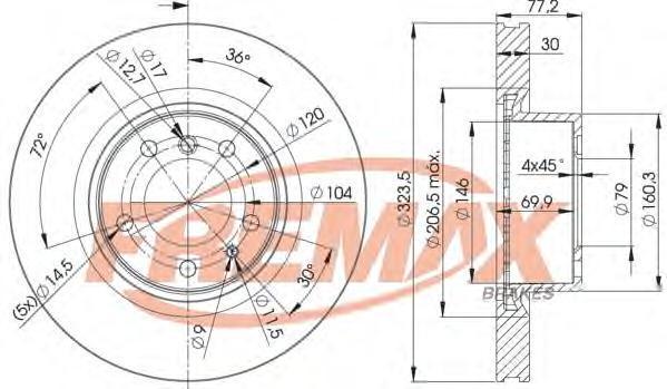 Диск тормозной Fremax, 2 шт. BD-4035BD-4035