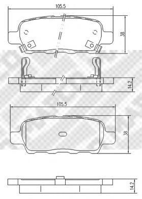 Колодки тормозные дисковые Mapco, комплект. 67546754