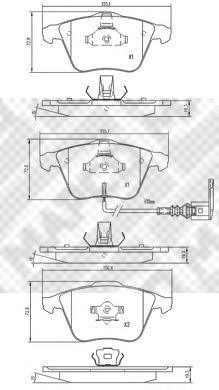 Колодки тормозные дисковые Mapco, комплект. 67916791