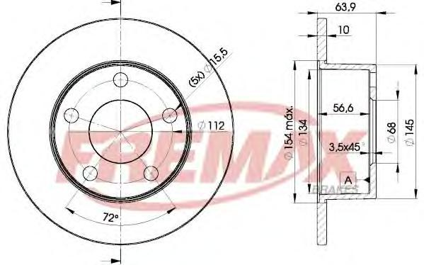 Диск тормозной Fremax, 2 шт. BD-4060BD-4060