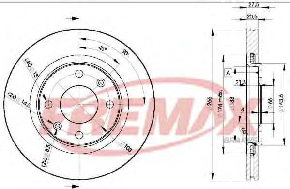 Диск тормозной Fremax, 2 шт. BD-4697BD-4697