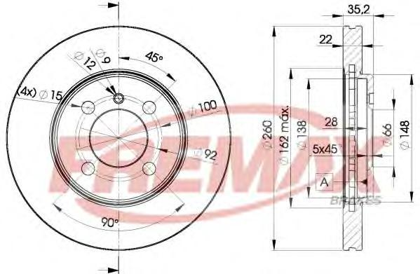 Диск тормозной Fremax, 2 шт. BD-4749BD-4749