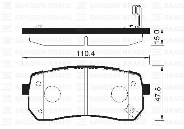 Колодки тормозные дисковые Sangsin, комплект 4 шт. SP1192SP1192