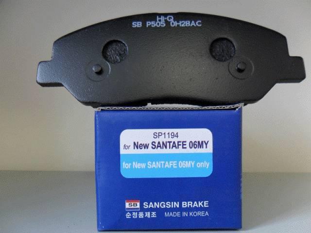 Колодки тормозные дисковые Sangsin, комплект 4 шт. SP1194SP1194