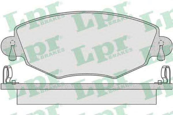 Колодки тормозные дисковые LPR / AP. 05P86505P865