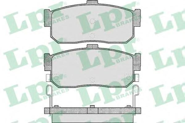 Колодки тормозные дисковые LPR / AP. 05P60205P602