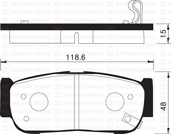 Колодки тормозные дисковые Sangsin, комплект 4 шт. SP1178SP1178