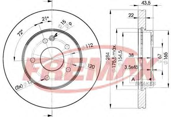 Диск тормозной Fremax, 2 шт. BD-3182BD-3182