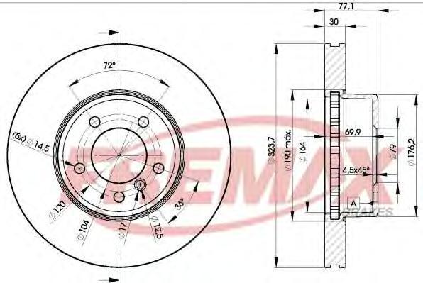Диск тормозной Fremax, 2 шт. BD-3221BD-3221
