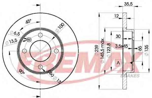 Диск тормозной Fremax, 2 шт. BD-3300BD-3300