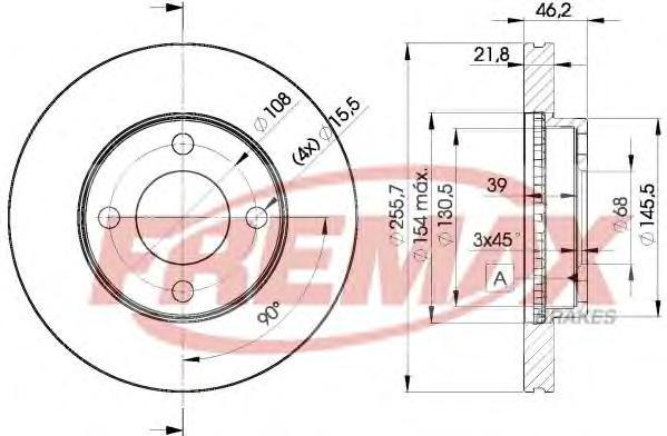 Диск тормозной Fremax, 2 шт. BD-3633BD-3633
