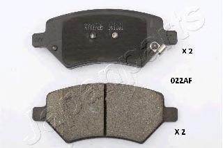 Колодки тормозные дисковые Japanparts, комплект. PA-022AFPA-022AF