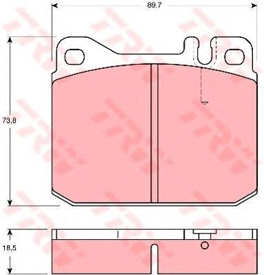 Колодки тормозные дисковые TRW. GDB1103GDB1103