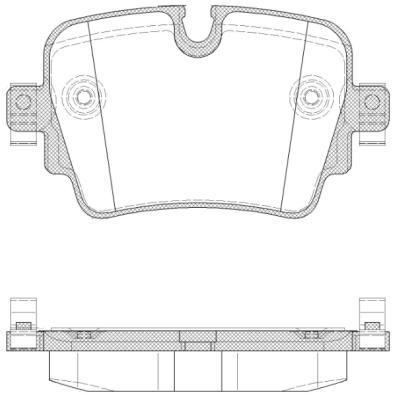 Колодки тормозные дисковые Remsa, задние. 157200157200