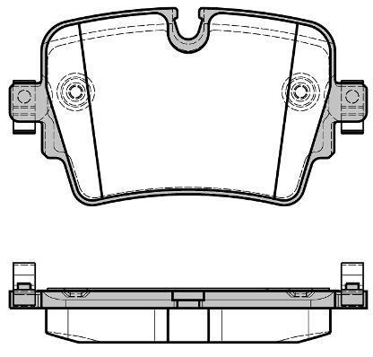 Колодки тормозные дисковые Remsa, задние. 161408161408