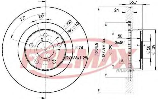 Диск тормозной Fremax, 2 шт. BD-2630BD-2630