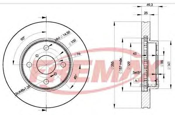 Диск тормозной Fremax, 2 шт. BD-2100BD-2100