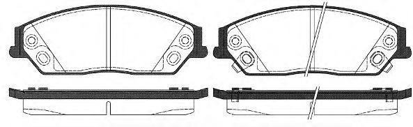 Колодки тормозные дисковые Remsa, комплект. 146702146702