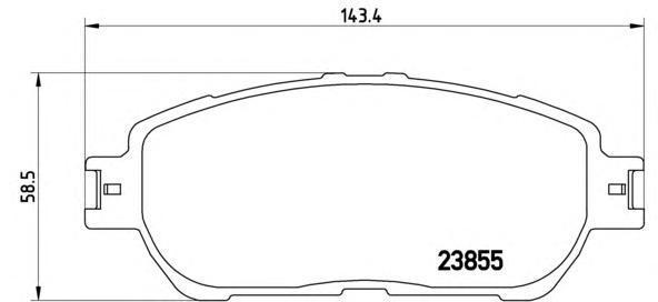 Колодки тормозные дисковые Brembo, комплект. P83105P83105