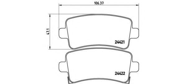 Колодки тормозные дисковые Brembo, комплект. P59060P59060