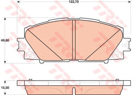 Колодки тормозные дисковые TRW. GDB4173GDB4173