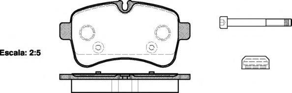 Колодки тормозные дисковые Remsa, комплект. 128200128200