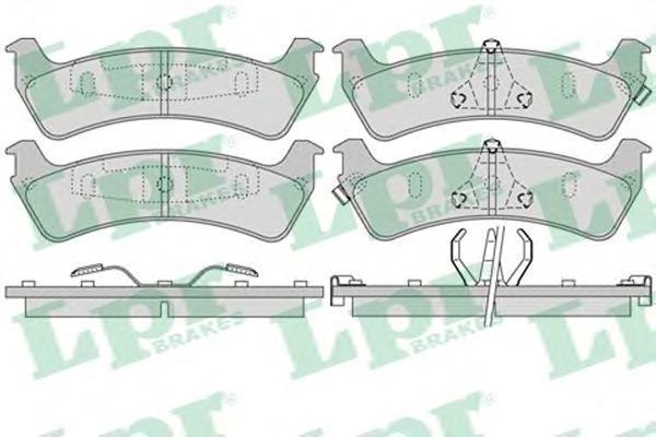 Колодки тормозные дисковые LPR / AP, комплект. 05P99005P990