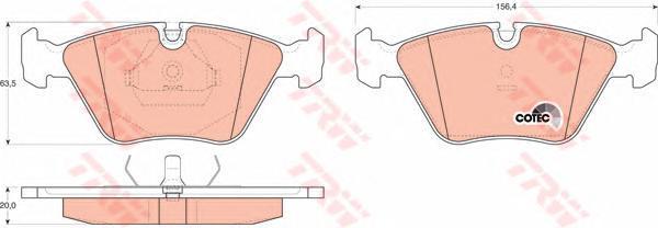 Колодки тормозные дисковые TRW. GDB916GDB916