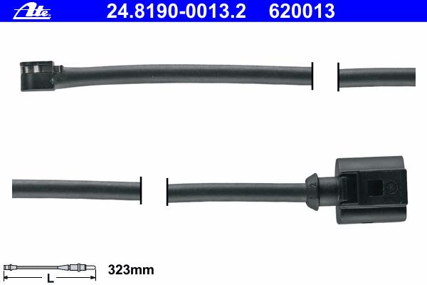 Датчик износа тормозных колодок Ate, комплект 2 шт. 24.8190-0013.224.8190-0013.2