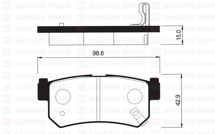 Колодки тормозные дисковые Sangsin, комплект 4 шт. SP1151SP1151