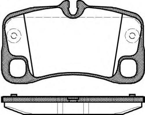 Колодки тормозные дисковые Remsa, комплект. 136900136900
