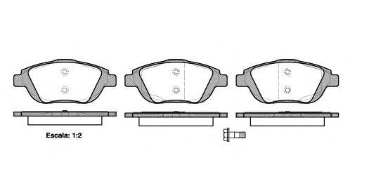 Колодки тормозные дисковые Remsa, комплект. 139200139200