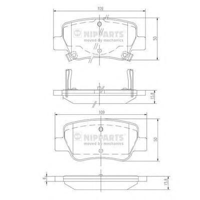Колодки тормозные дисковые Nipparts, комплект. N3612042N3612042