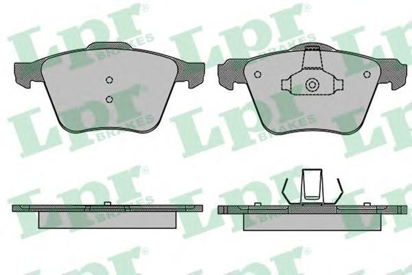 Колодки тормозные дисковые LPR / AP, комплект. 05P150705P1507