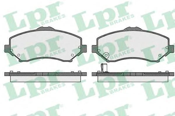 Колодки тормозные дисковые LPR / AP, комплект. 05P154805P1548