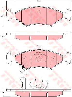 Колодки тормозные дисковые TRW. GDB3224GDB3224