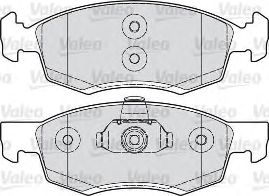 Колодки тормозные дисковые Valeo, комплект. 601017601017