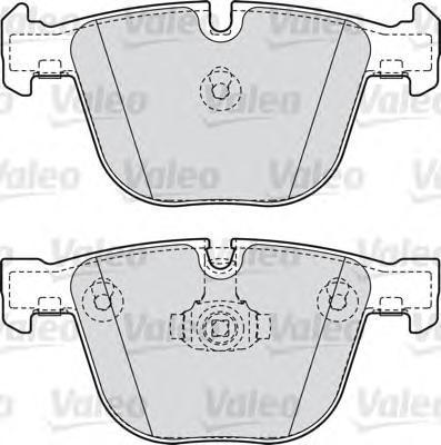 Колодки тормозные дисковые Valeo, комплект. 598820598820