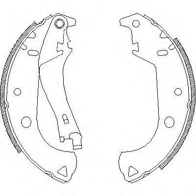 Колодки тормозные дисковые Remsa, комплект. 412501412501
