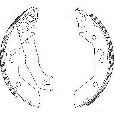 Колодки тормозные дисковые Remsa, комплект. 414000414000