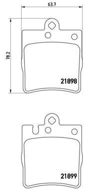 Колодки тормозные дисковые Brembo, комплект. P50033P50033